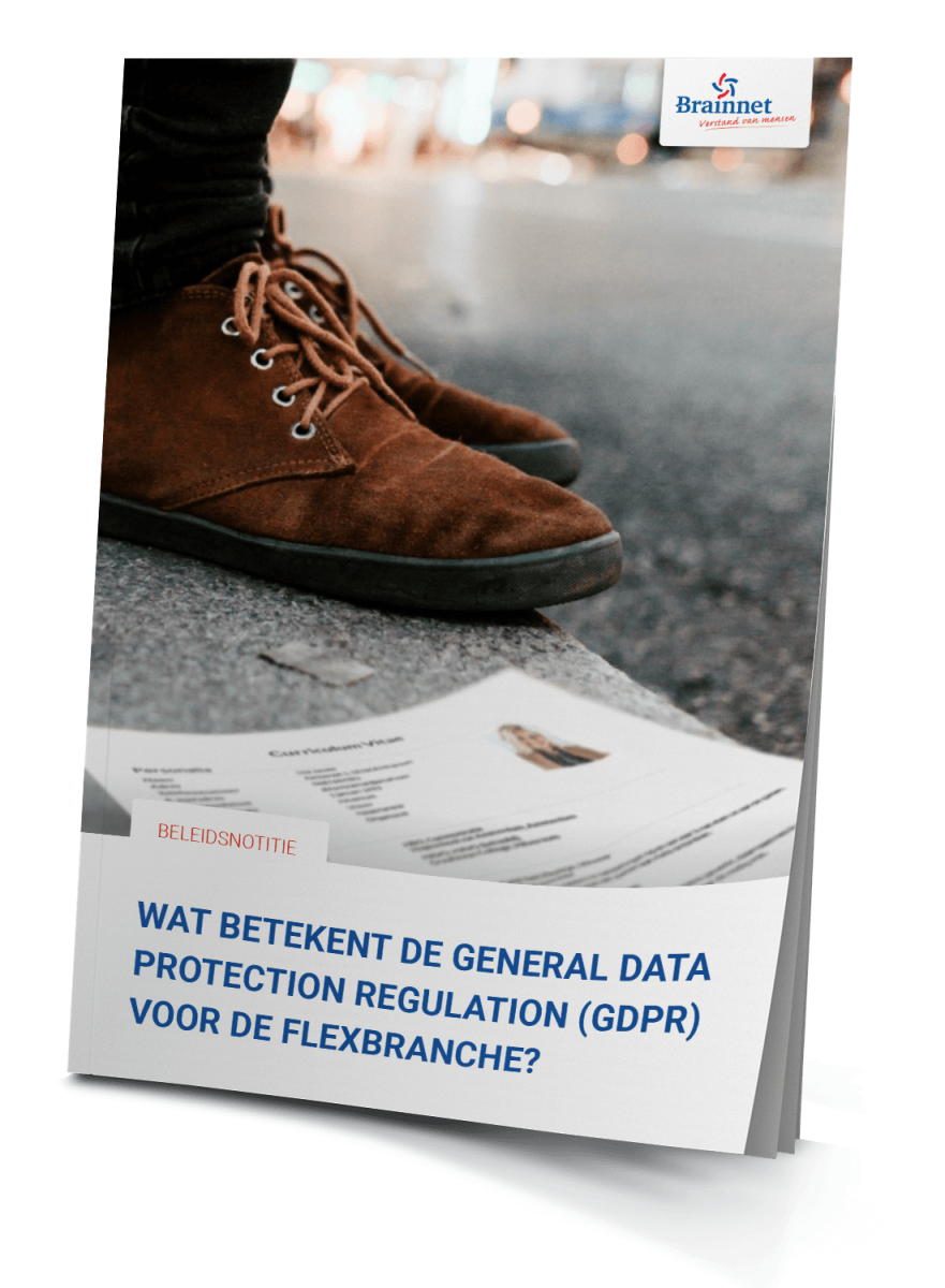 "Download de notitie: ""Wat betekend GDPR voor de flexbranche?"""